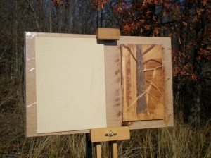 Burnt Umber sketch with bee