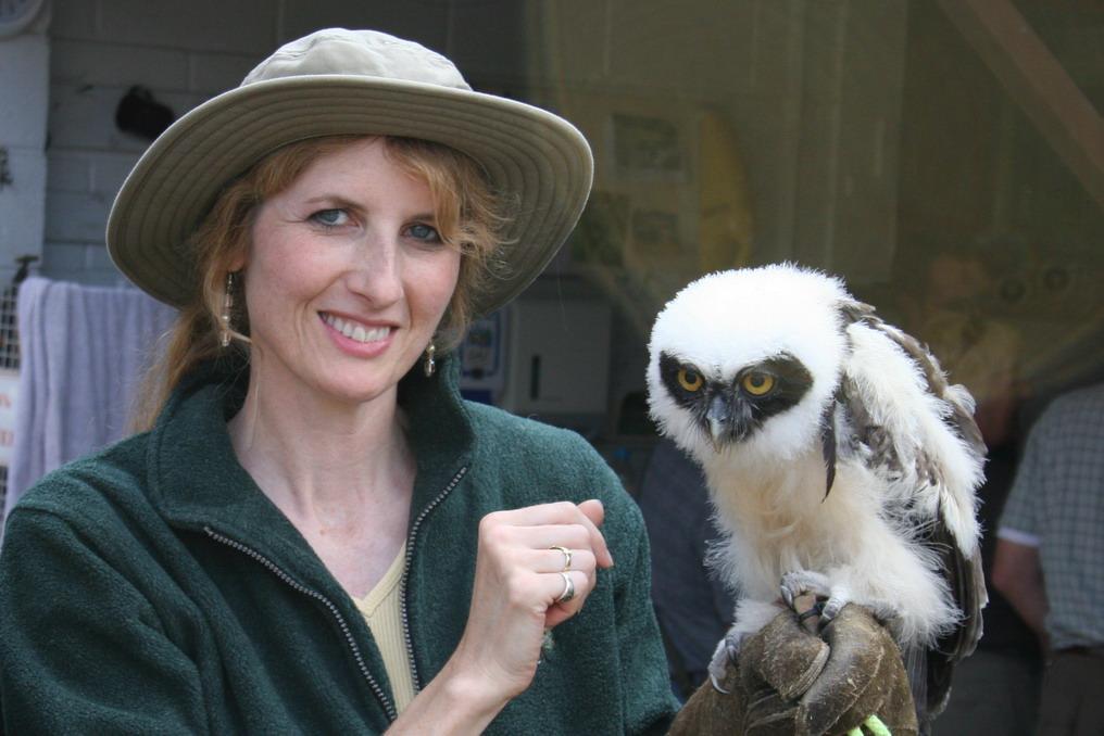 Me at Keilder Water Birds of Prey Centre, Northumberland, England