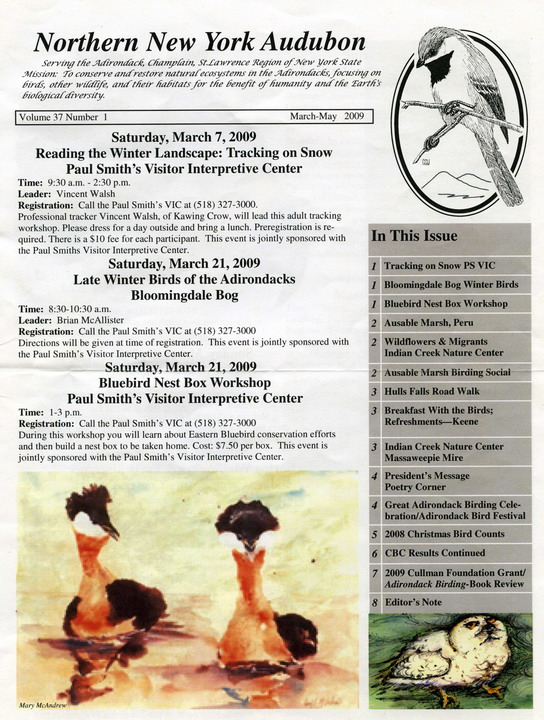Audubon March-May '09 Newsletter