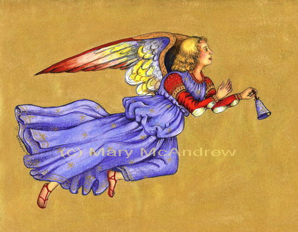 """Blue and Gold Angel"""