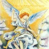"""Heralding Angel"" (hand colored)"