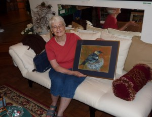 Shirley with her new painting!