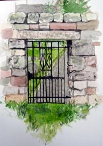 Berwick cemetary gate