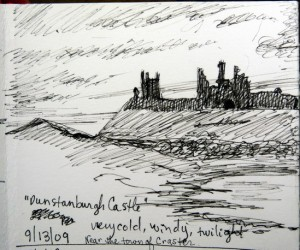 Dunstanburgh castle sketch
