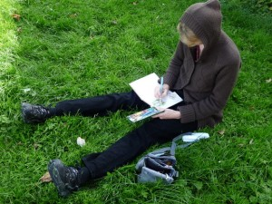 Me working on the sketch