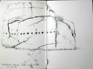 Old Bewick field sketch