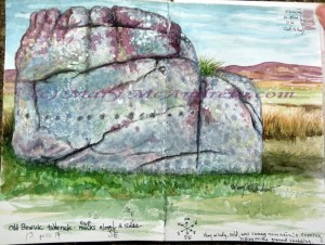 Painting of Old Bewick Rock