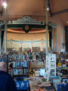 Stage in the Pavillion at Buxton book fair.
