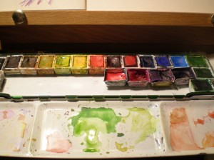 my watercolor pan palette