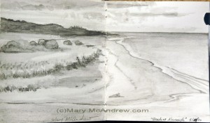 Alnmouth, Northumberland -water soluble graphite