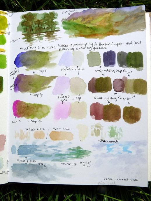Watercolor practice mixing - pg 2