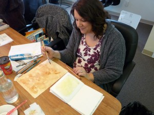 Creative Journaling class 2 - making coffee stained paper