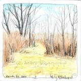 """Springtime Path in the Maze"" watercolor crayon + wax crayon"