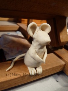 mouse in clay sculpture