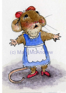 Sketch for a little girl mouse.