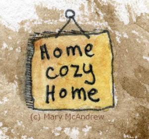 (c)Home Cozy Home sign