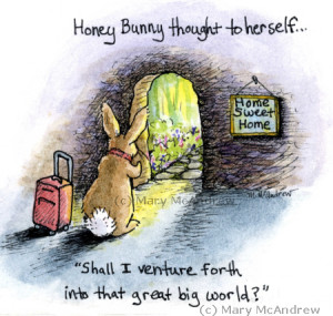 Honey Bunny thinks about her future.