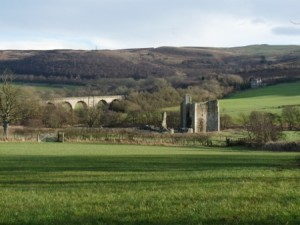 Edlingham Castle and viaduct, just down the road from me.