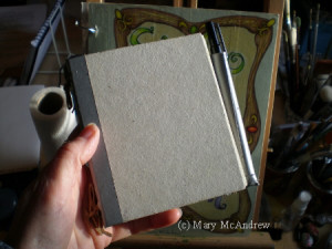 This is one of the small sketchbooks I designed, it's great for winter sketches because it's small.