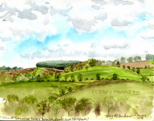 (c)5-26-15 view of Demesne Farm + Thrunton Woods