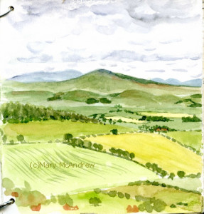 (c)view of Cheviots + Glanton