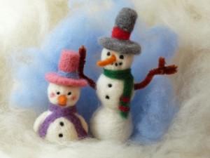The snow couple.