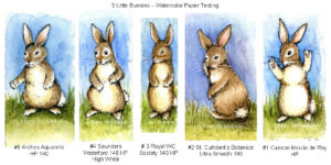 5 Little Bunnies in a row.