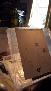 Testing ability to trace through the paper from my drawing.